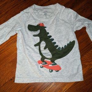 3D Carter's dinosaur skateboarding 18 shirt